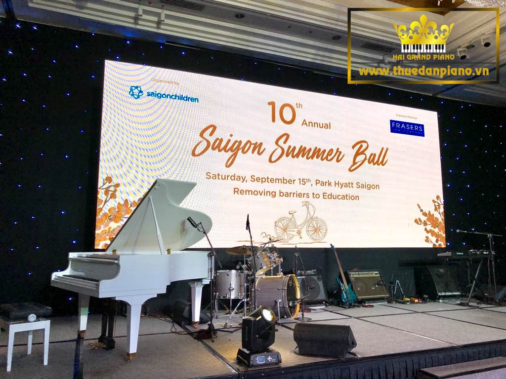 Cho Thuê Đàn Piano Grand White | Saigon Summer Ball